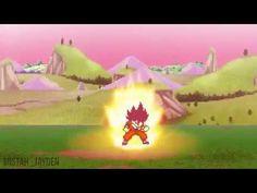 Super Saiyan 3 Goku Vs Kidd Buu (Sprite Animation)