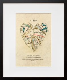A Map of the Open Country of a Woman's Heart, by D.W. Kellogg & Co. | 20x200
