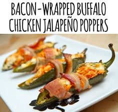 Super Bowl Snacks (arguably) Better Than Hot Wings: Bacon-wrapped buffalo chicken jalapeno poppers