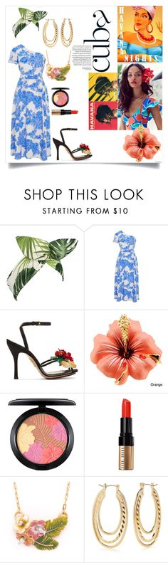 """""""Havana Nights"""" by alwaysdreaming16 ❤ liked on Polyvore featuring GALA, Lulu in the Sky, Tanya Taylor, Charlotte Olympia, MAC Cosmetics, Bobbi Brown Cosmetics and Kim Rogers"""