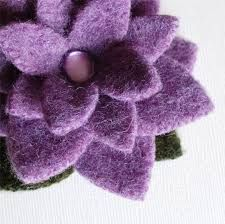 felted flowers from sweaters - Google Search