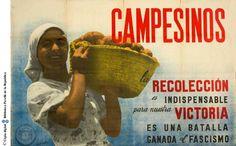Calandin, Campesinos - IWMSCW - VADS: the online resource for visual arts Propaganda Art, Campaign Posters, Barcelona, Victoria, Spanish, War, Potatoes, Basket, Graphics