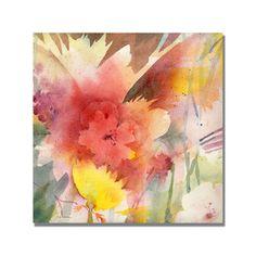 Shelia Golden 'Hibiscus Shadows' Canvas Art
