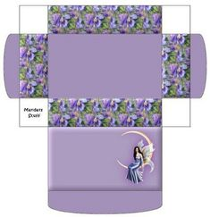 Caja color lavanda