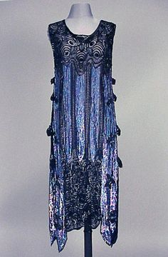 Iridescent Sequined Chemise Dress  1920s