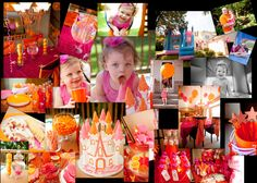 Pink and Orange Princess Party