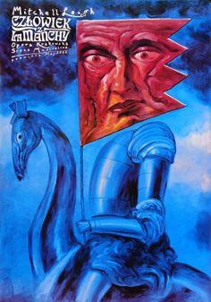 Człowiek z La Manchy ( Don Quixote by Wilhelm Kienzl )  Opera poster by Leszek Zebrowski