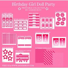 doll printables | ... with baby dolls and tutus birthday party printable collection pastels