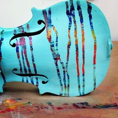 My painted violin for the Portland Youth Philharmonic fundraiser
