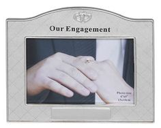 SILVER PLATED ENGAGEMENT PHOTO FRAME ENGAGEMENT GIFTS