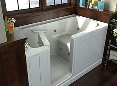 walk-in tub...I don't think it needs to be just for the handicapped or elderly.  I think it's safer than a regular tub (no slipping getting out).