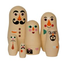 "Studio Matryoshka: ""Personligheder""  6 x Babushka-dukker"