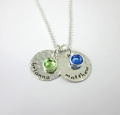 Hey, I found this really awesome Etsy listing at https://www.etsy.com/listing/72637417/mothers-birthstone-necklace-hand-stamped