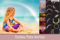 Rainbow Overlays, rainbow PNG, transparent, Realistic rainbow,Photo effect, rainbow sky, photoshop actions, clipart, clip art, mini session by MixPixBox on Etsy
