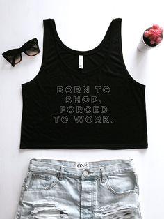 Forced to work Crop tank Crop Tank, Tank Tops, Muscle Tanks, Size Chart, T Shirt, Shopping, Women, Fashion, Supreme T Shirt