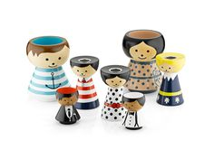 Hunting The Pretty | Lucie Kaas hand painted egg cups and pencil holders