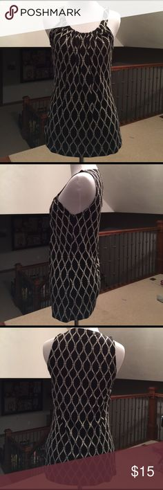 Banana Republic Soft Tank Top Figure flattering. Black/white nautical rope pattern. Like brand new condition- no flaws. Rayon/tyocell makes it soft & lightweight. Banana Republic Tops Tank Tops