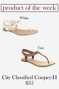City Classified Cooper-H Sandal // Pretty Little Shoes