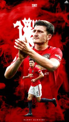 Harry Maguire   Manchester United Manchester United Champions League, Manchester United Wallpaper, Manchester United Players, Cristiano Ronaldo Junior, Cristiano Ronaldo 7, Pogba Manchester, Ronaldo Football, Soccer Stars, World Football
