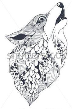 #fox #black&white