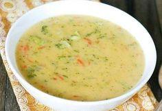 Culinary Notebook | Cheese soup with rice | http://recipessea.com