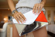 VIVALUXURY - Celine diamond clutch, Vita Fede mini titan crystal ...