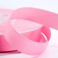 16mm Pink Satin Ribbon 25M