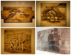 Simply Pallets, a new company on Etsy, takes pallet canvases and creates art with various shades of wood stain. That means that the canvases have that natural rustic look that everyone loves and they can be hung inside OR outside! I never knew that animals, pirate ships, flowers, and just about... #Canvas, #ReclaimedPallet, #Rustic