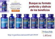 La Glucosamina respalda la comodidad y flexibilidad de las articulaciones. Busque el formato que más le conviene.  http://es.puritan.com/search?scid=29135