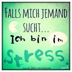 Falls #mich #jemand #sucht ... Ich bin im #Stress  #soistdasleben #manchmal ✌️