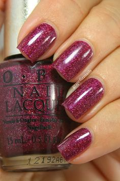 OPI DS Extravagance grape fizz nails blog