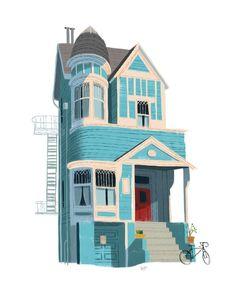 Building Illustration, House Illustration, Landscape Illustration, Watercolor Illustration, Digital Illustration, Bg Design, Prop Design, Cartoon Background, Animation Background
