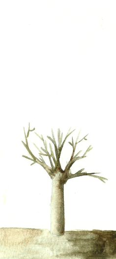 By Diego A. Trees Collection 1, Watercolor on paper drawing