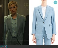 Bonnie Winterbottom Fashion on How to Get Away with Murder Liza Weil, How To Get Away, Printed Blouse, Wool Blend, Suit Jacket, Blazer, Fashion Outfits, Suits, Costumes