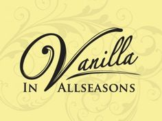 Vanilla in Allseasons Cheshire Outside Catering company logo & corporate idenity by ADOmedia. Classic Type - Calligraphy - food - events