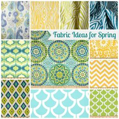 LOVE THESE COLORS TOGETHER---NICE & CHEERY DO THESE COLORS THROUGH OUT WHOLE  HOUSE Housie Inspiration: Fabrics for Spring