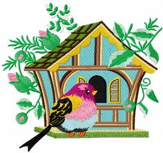 Tribal bird free embroidery design | EmbroIderies free designs ... on