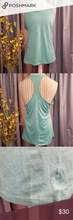 🌻🌺🌻NIKE NWOT DRI-FIT RACERBACK TANK TOP!! SIZE:large   BRAND:Nike   CONDITION:NWOT, no flaws    COLOR:TEAL/AQUA   🌟POSH AMBASSADOR, BUY WITH CONFIDENCE!   🌟CHECK OUT MY OTHER ITEMS TO BUNDLE AND SAVE ON SHIPPING!   🌟OFFERS WELCOME!   🌟FAST SHIPPING! Nike Tops
