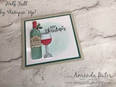 The Craft Spa - Stampin' Up! UK independent demonstrator : Half Full for Christmas....
