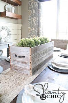 DIY Barn Wood Planter Box