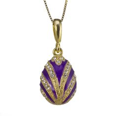 faberge egg pendant Faberge Jewelry, Enamel Jewelry, Swarovski, Blue Gold, Purple, Faberge Eggs, Egg Art, Photo Jewelry, Precious Metals