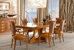 mesa madera comedor tema marinero ideas