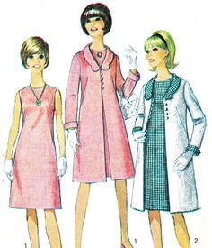 1960s Dress and Jacket Pattern Simplicity 6412 Mod by paneenjerez, $14.00