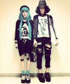 Pastel Goth street fashion