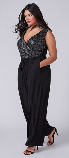 Plus Size Sequin Jum