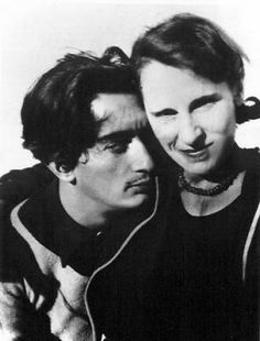 """Dali and Anais Nin. """"If you limit your choices only to what seems possible or reasonable, you disconnect yourself from what you truly want, and all that is left is compromise.""""  — Anaïs Nin"""