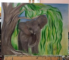 Willow sold oil painting by @Budrflicreations
