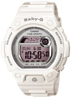109fa0cc4133 Casio Womens Baby-G BLX103-7 White Resin Quartz Watch with Digital Dial  Bandas