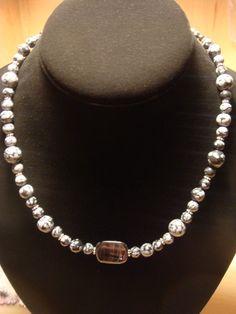Obsidian Snowflake / Quartz Necklace by laiziboicollection on Etsy, $12.00