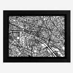 Paris Cut Map